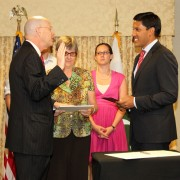 USAID Administrator Dr. Rajiv Shah swears in Gregory Gottlieb as Mission Director for Pakistan.
