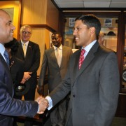 USAID Administrator Dr. Rajiv Shah met with His Excellency Laurent Lamothe, Prime Minister of the Republic of Haiti