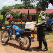 Riders for Health deliver TB specimens
