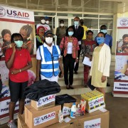 USAID Donates Non-Medical and Assorted Anti-Coronavirus Materials to Government of Liberia