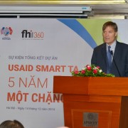 USAID Vietnam Mission Director Michael Greene speaks at the project review workshop.