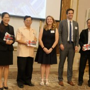 USAID and GIZ officials present implementation guidelines to support solar rooftop photovoltaics deployment in Thailand's commercial and industrial sectors.