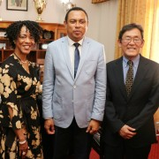 U.S. Ambassador Robert T. Yamate and USAID Mission Director Michele Godette announced the award of an additional emergency assistance of one million dollars to support the Government of Madagascar's efforts to manage the plague outbreak