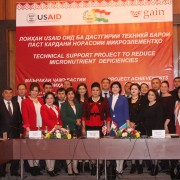 U.S. Government commemorates accomplishments in promoting food fortification in Tajikistan