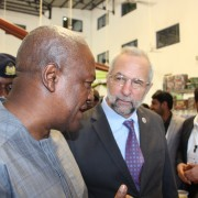 The President of Ghana and the USAID/West Africa Mission Director at the international shea industry conference