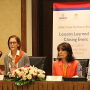 USAID Mission Director Sherry F. Carlin speaks at Trade Facilitation Project closing ceremony