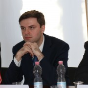 U.S. Embassy Chargé d'Affaires, Ambassador Ross Wilson; USAID Mission Director, Peter Wiebler; and Deputy Minister of Environmental Protection and Agriculture, Nodar Kereselidze at the launch of new program