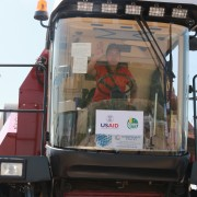 Approximately 400 soybean farmers will use the machinery to reap larger, higher quality harvests.