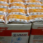 The $500,000 will be used to buy and distribute locally-made malnutrition supplement