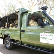 Vehicles donated by USAID to the Kenya Wildlife Service