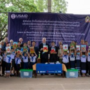 United States Hands Over Supplementary Reading Books to the Ministry of Education and Sports