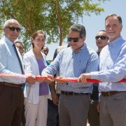 Ambassador Beecroft, USAID Mission Director Carlin, and Egyptian Minister of Antiquities Khaled El-Enany inaugurate the reopened