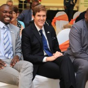 Officials at closing ceremony of USAID/Botswana's Maatla project