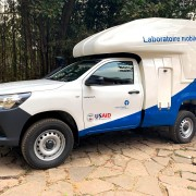 The new mobile laboratory will support the surveillance of and response to infectious disease outbreaks in Madagascar