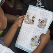 School children reading stories