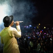 Musician Nathi performing during the Moyo Benefit Launch concert in Lesotho