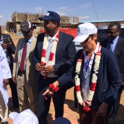 Ambassador Haslach joined the Somali Regional State President Abdi Mohamud Omar to open the new Jijiga Export Slaughter House an