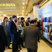 USAID Mission Director Julie A. Koenen joins Speaker of the Khyber Pakhtunkhwa Assembly Mushtaq Ahmed Ghani and distinguished guests to celebrate the success of the U.S.-Pakistan Centers for Advanced Studies in Energy.