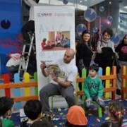 USAID's Readers are Leaders Project Entertains Kids at Skopje City Mall