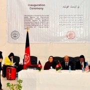 Professor Amanullah Hamidzai, chancellor of Shaheed Rabbani Education University, delivers his speech.