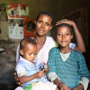 Image of Ethiopian mother and two children