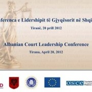 Court Leadership Conference in Tirana