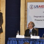 USAID Mission Director, Joseph Williams, delivering remarks at the event.