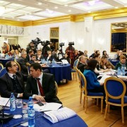 Attendees at USAID's workshop on Local Finance Legislation in Albania