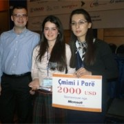 Winners of 1st Microsoft Imagine Cup Competition in Albania
