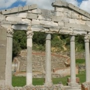 Temple ruins (Monument of Agonothetes)in Apollonia