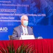 US Ambassador to Lao PDR Peter M. Haymond delivered a keynote speech at the closing ceremony of the project