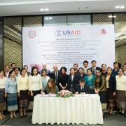 Ambassador Bitter and Lao government officials joined a ceremony to formally launch #USAIDOkard