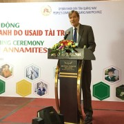 USAID/Vietnam Mission Director Michael Greene speaks at the launch.