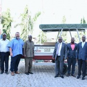On March 21, 2019, Andrew Karas, Chargé d'Affaires, a.i., handed over to the Rufiji and Wami Ruvu Water Basin Boards equipment and assessment tools to monitor and sustainably manage water resources.
