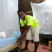 """""""Mosquito bed nets are an extremely simple and effective method to prevent malaria"""" -- Ambassador Michael Pelletier"""