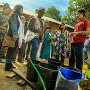 USAID Mission Director Derrick S. Brown and his delegation visit a watershed project in the Chattogram Hill Tracks.