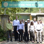 USAID's Senior Deputy Assistant Administrator for Asia Gloria Steele (center) in a group photo with a local forest management