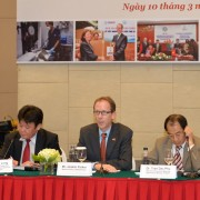 USAID Mission Director Joakim Parker speaks at the launching event of the EPT-2 program.