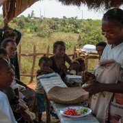 Cooking demo in Androy, in southern Madagascar