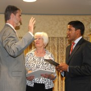 USAID Administrator Rajiv Shah swears in Chris Milligan as Burma Mission Director