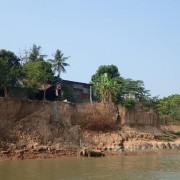 Cambodia officials join USAID and the U.S. Department of the Interior to examine causes of bank erosion.
