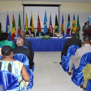 Mission Director Christopher Cushing addresses attendees of an inaugural Caribbean forum