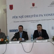 USAID and OSCE deliver remarks at Tropoja District Court