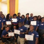 Their smiles say it all! Guyana's new small business owners bask in their success.