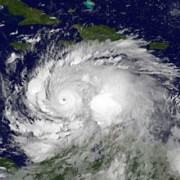 Hurricane Matthew as the storm moved through the south central Caribbean Sea.