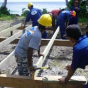 Students Learn Typhoon-Resistant Construction Techniques in Majuro
