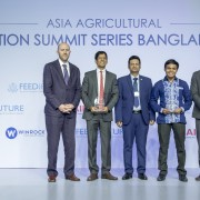 Photo of winners of the Tech4Farmers Challenge receiving award.