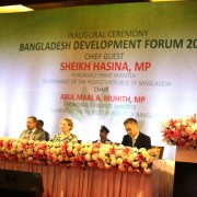 USAID Mission Director Janina Jaruzelski delivers remarks at Bangladesh Development Forum 2018.