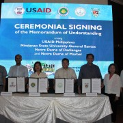 Lawrence Hardy II, Mission Director, MOU Signing with Higher Education Institutions in Region 12 on Conservation