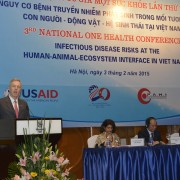 U.S. Ambassador Ted Osius delievers opening remarks at the conference.